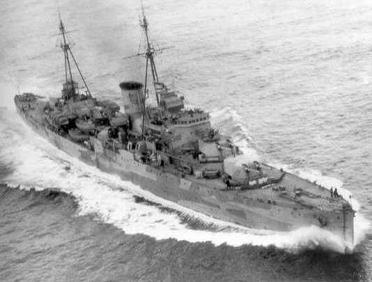 HMS Neptune from above. Imperial War Museum FL2929