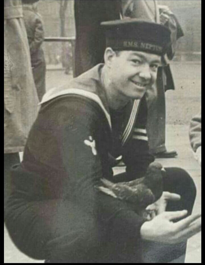 Grandad in dark navy uniform just like to know more ?