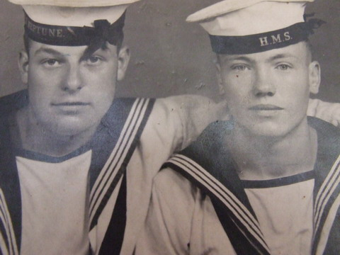 Henry Turner on right with friend Richard Belsom on left(another casualty)\n\n